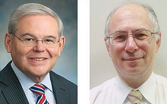 Sen. Robert Menendez, left, and Dr. Ben Chouake