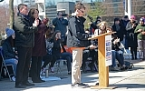 Laurence Fine addresses a March for Our Lives gun control rally in Hackensack on March, 24, 2018.