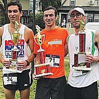 The 5K winners were Jacob Shrier (17:23), Isaac Markel (17:28), and Steven Rosenbaum (18:11). Mr. Shrier and Mr. Markel broke Michael Bouaziz's 2017 record time of 18:08.
