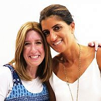 Chani Hermann, director of New Jersey Yachad, left, with Monique Chera, event host.