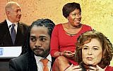 From left: Israeli Prime Minister Benjamin Netanyahu, Trayon White Sr., Joy Reid and Roseanne Barr. (JTA Collage/Getty Images/GPO)