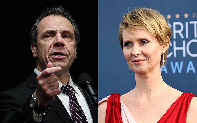 Cynthia Nixon is running to unseat New York Gov. Andrew Cuomo. (Getty Images)