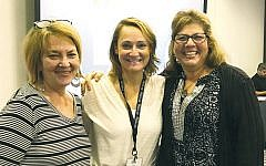 From left, Susan Greenbaum, Debbie Harris, and Sari Gross represented the Jewish Family and Children's Service of Northern New Jersey in a Preside workshop in Chicago last weekend.