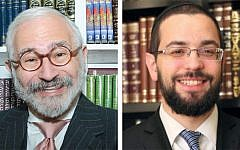 Leonard Grunstein, left, and Rabbi Ronen Dvash