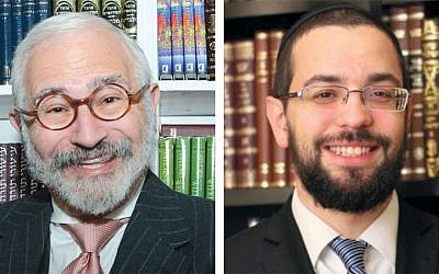 Leonard Grunstein, left, and Rabbi Ronen Dvash