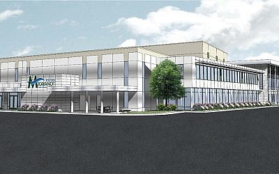 A rendering of what an expanded Ma'ayanot Yeshiva High School for Girls will look like after a $10 million construction project.