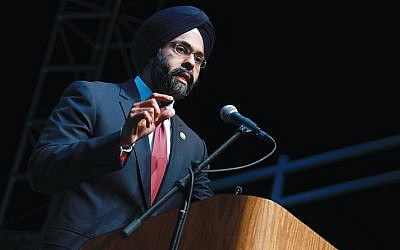 Attorney General Gurbir Grewal gives the Keynote at the Spotlight Conference on Opiod Abuse and It's Impact On Teens and Families presented by the George Street Playhouse at Rutgers University in New Brunswick, N.J. on Tuesday, Sept. 25, 2018. Office of the Attorney General/Tim Larsen