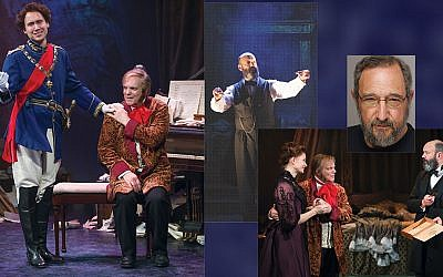"Scenes from ""My Parsifal Conductor,"" with playwright, Allan Leight, upper right."
