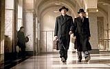 "Actors Barry Atsma, left, and Jacob Derwig play Walraven and Gijs van Hall, respectively, in ""The Resistance Banker."" (Dutch FilmWorks)"