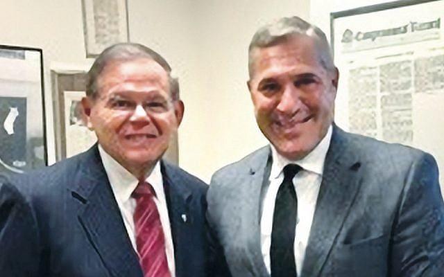 Senator Robert Menendez, left, and Michael Wildes (Courtesy Norpac)