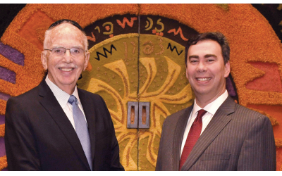 Rabbi Stanley M. Davids, left, and  Rabbi Steven Sirbu. (Barbara Balkin)
