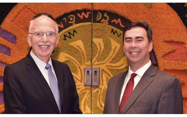 Rabbi Stanley M. Davids, left, and  Rabbi Steven Sirbu. (Barbara Balkin)