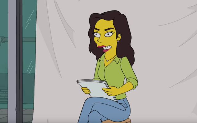 "Gal Gadot plays herself in an episode of ""The Simpsons."" (Screenshot from YouTube)"