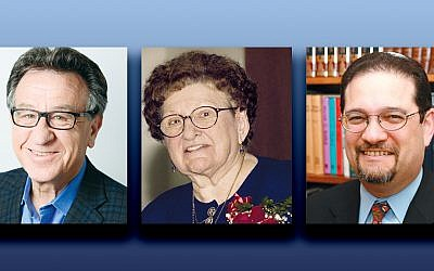 Alan Silberstein, left, Sister Rose Thering, and Rabbi Jordan Millstein