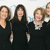 Gala committee chairs Sue Ann Levin and Suzette Diamond, Susan Greenbaum, and Debbie Harris