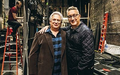"Harvey Fierstein, left, inspired Moises Kaufman with his groundbreaking work ""Torch Song Trilogy."" (Courtesy of Torch Song on Broadway)"