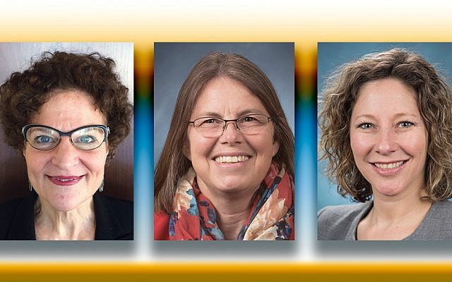 Janice Stein, left, Dianne Ehler, and Jennifer Davis