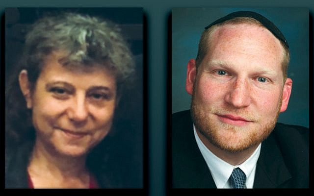 Joanne Palmer, left, and Rabbi Yehoshua Fass