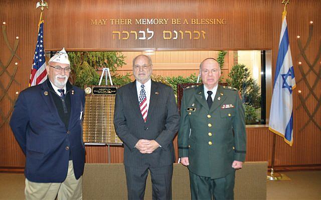 Jeff M. Sohn, left, Alan Musicant, and Rabbi Simon Feld.