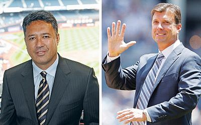 Tino Martinez, left, and Ron Darling