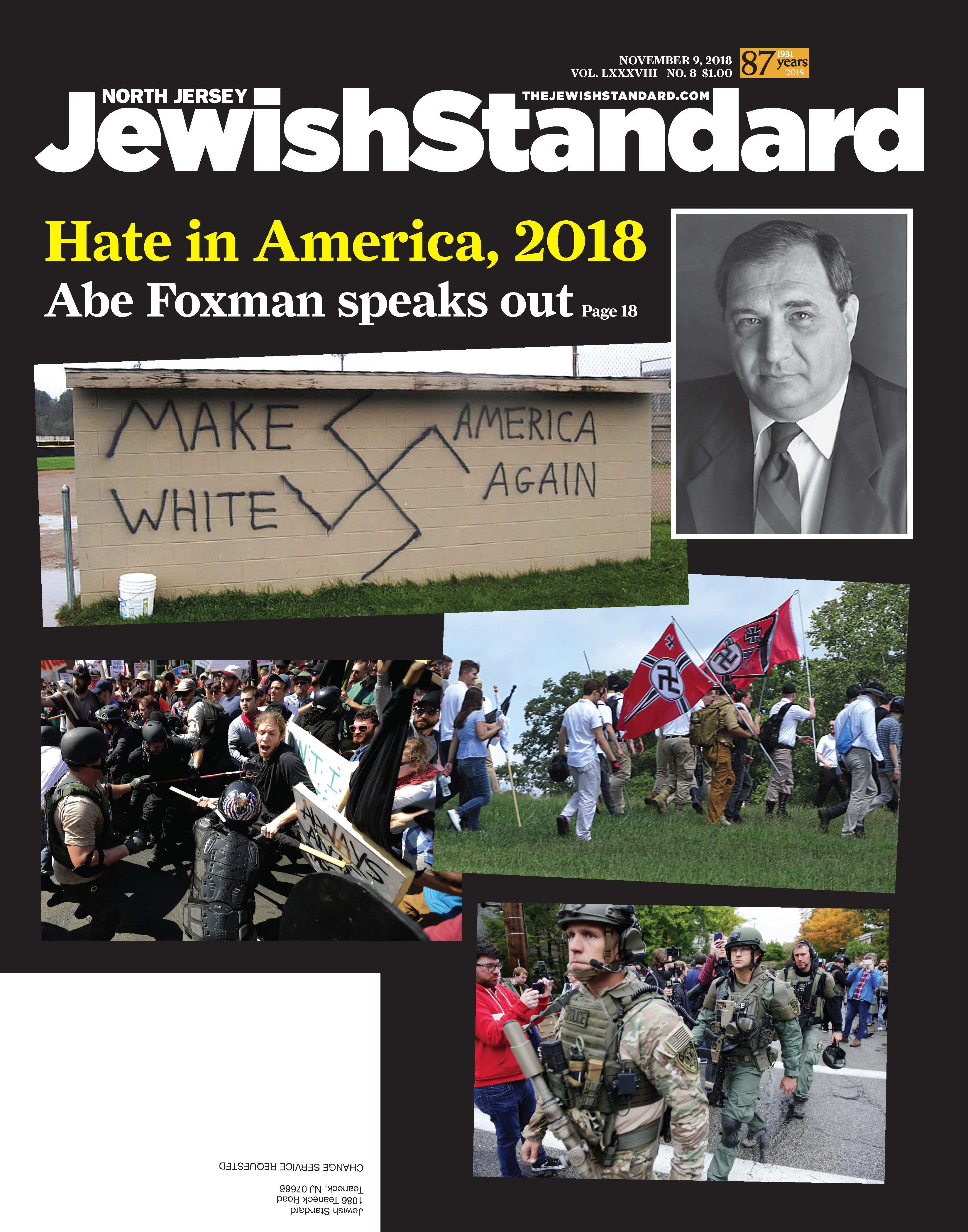 Jewish Standard, November 9, 2018