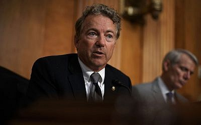 Sen. Rand Paul speaks during a hearing before Senate Foreign Relations Committee on Capitol Hill, July 25, 2018. (Alex Wong/Getty Images)