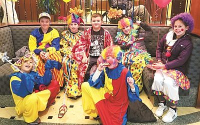Mitzvah Clowns from the Marlene Meyerson JCC Manhattan's Jewish Journeys program.