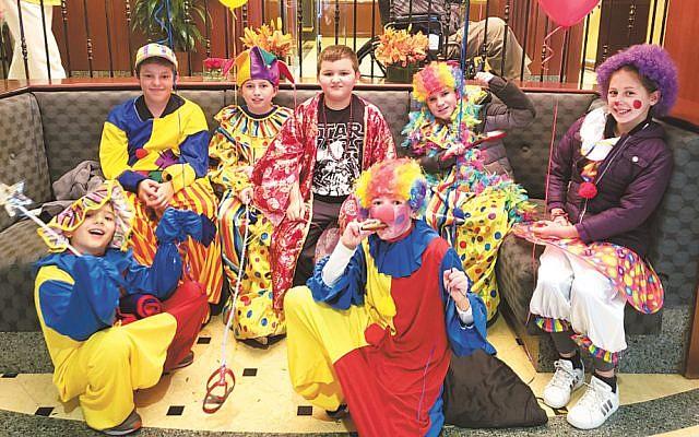 Mitzvah Clowns from the Marlene Meyerson JCC Manhattan's Jewish Journeys program.