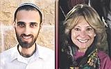 Chaim Leichman, left, and Susan Alpert