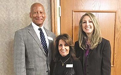 Ron Laurent with Debbie Musco-Yeck and Maxine Harelick. (Courtesy NCJW)