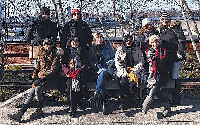 The group toured in Manhattan. (Photos courtesy JFNNJ)