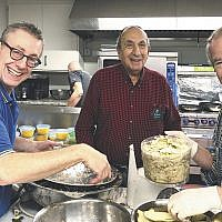 Chanukah festivities at Glen Rock Jewish Center included lots of  latke making. (Courtesy GRJ)