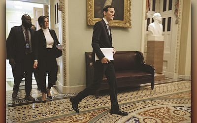 Jared Kushner leaves a weekly Senate Republican policy luncheon at the U.S. Capitol, November 27, 2018. (Chip Somodevilla/Getty Images)
