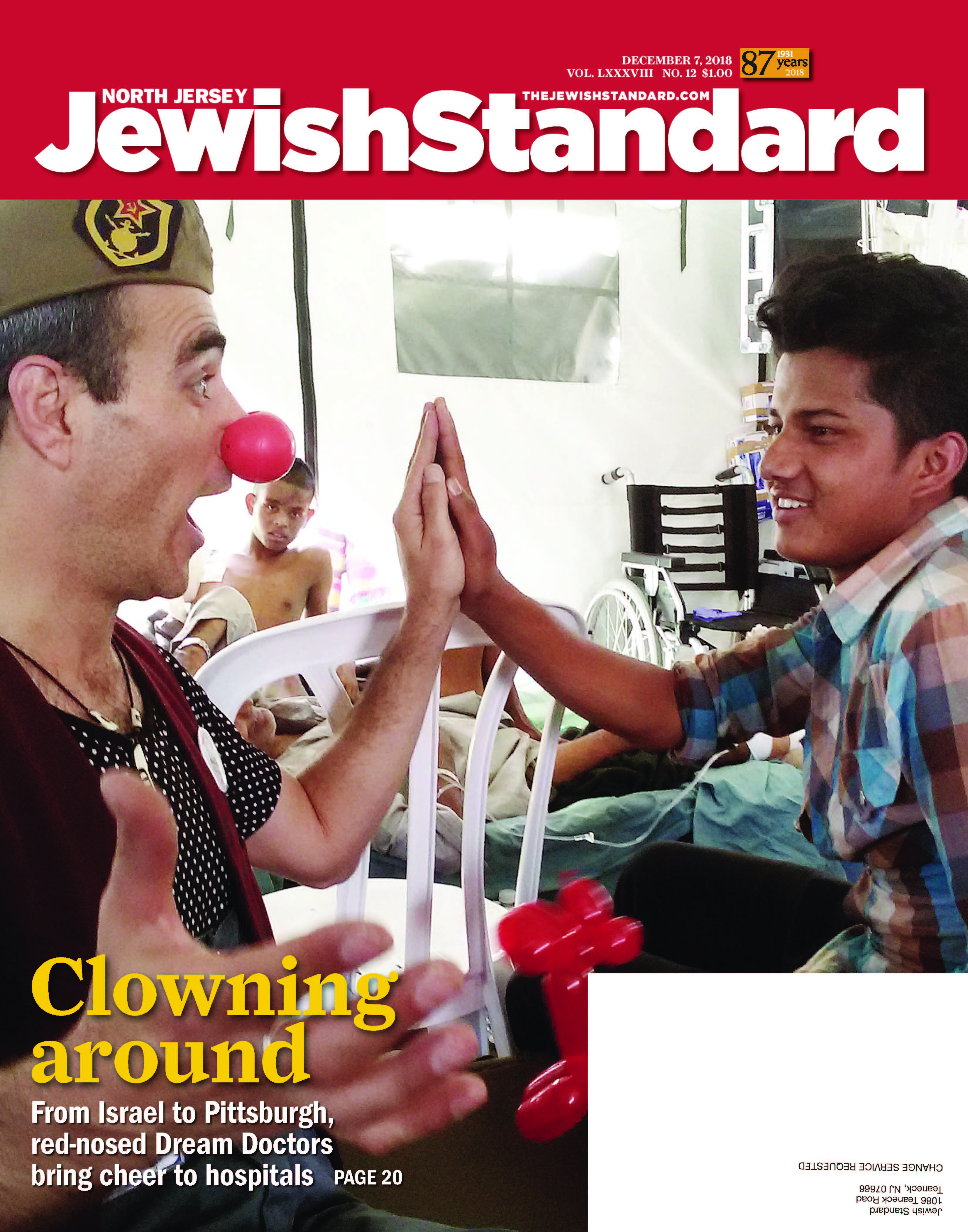 Jewish Standard, December 7, 2018