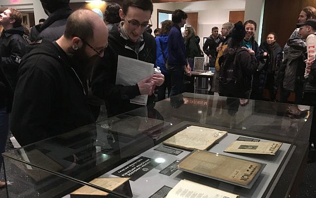 Some 450 people attended a conference at the YIVO Institute for Jewish Research in New York on the history of Yiddish anarchism, Jan. 20, 2019. (JTA Photo)