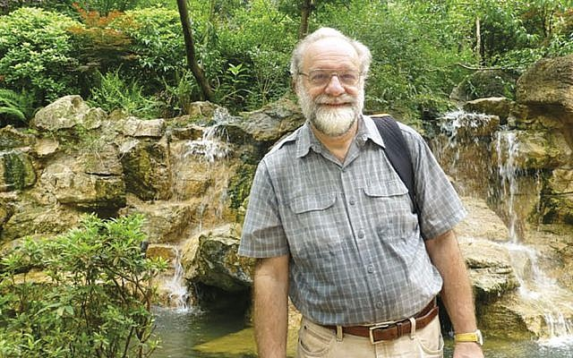 Dr. Tom Grunfeld stands in the Panda Reserve in Chengdu, Sichuan Province; sadly, no pandas are visible here.