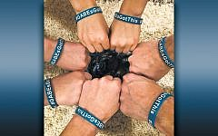 Brooke Bokser, Emma Darche, and their families sold these bracelets to raise money for Gabe.