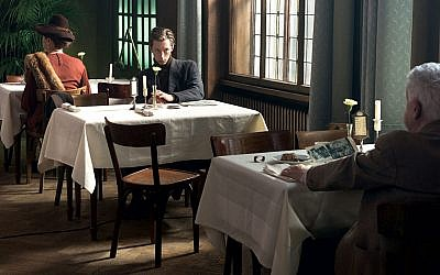 "Solitary diners in a scene from ""The Invisibles"""