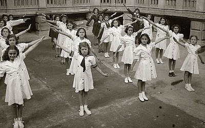 Mexican Jewish children at the Monte Sinai school, established in 1943 on Zacatecas Street in Mexico City by Jews from Damascus, Syria. (Zihronot Archive/Monte Sinai Community)