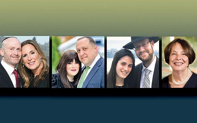 "Dr. Robert and Shari Alter of Englewood, left, Penina and Dr. Bin Goldman of Passaic, Ayelet and Rabbi Michael Hoenig of Fair Lawn, and Rachel Schulman A""H"