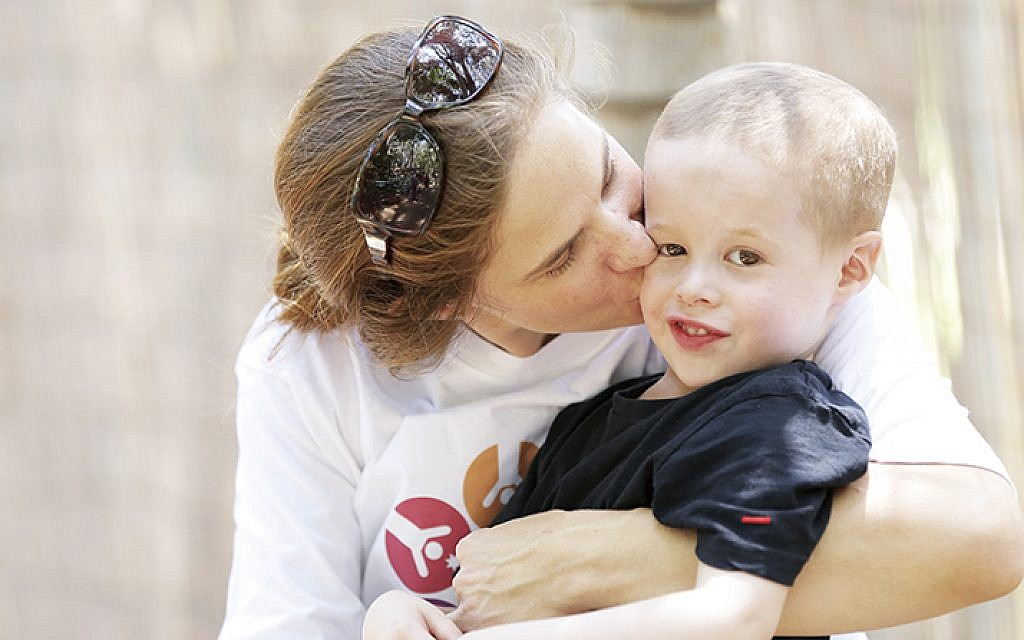 Nurit and 51/2-year-old Ran Gofen at summer camp for toddlers (ALL PHOTOS COURTESY LARGER THAN LIFE)