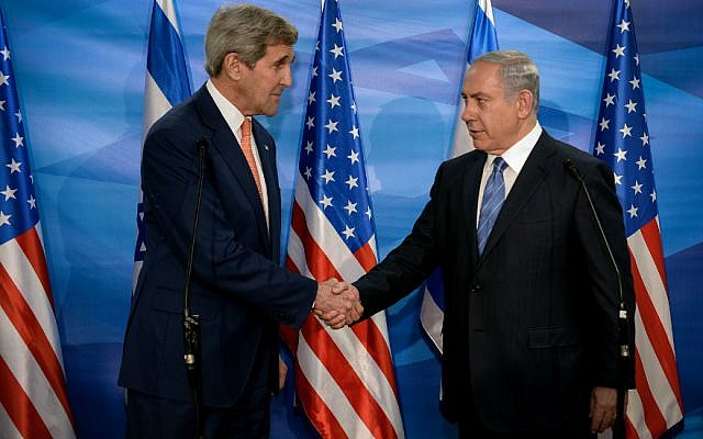 U.S. Secretary of State John Kerry and Israeli Prime Minister Benjamin Netanyahu meet in Jerusalem on Nov. 24, 2015 (Photo by Matty Stern/US Embassy Tel Aviv)