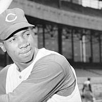 Frank Robinson as a member of the Cincinnati Reds in 1956. (Bettmann/Getty Images)