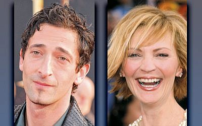 Adrien Brody, left, and Joan Allen