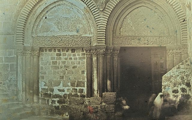 """Portal, Church of the Holy Sepulchre, Jerusalem, 1844."" Daguerrotype by Girault de Prangey (Bibliotheque nationale de France/Metropolitan Museum of Art)"