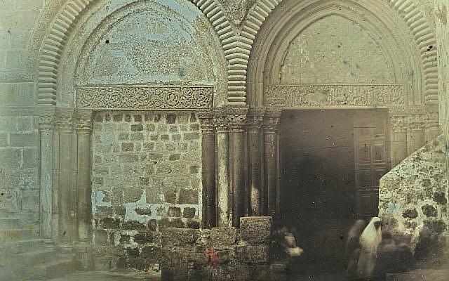 """Portal, Church of the Holy Sepulchre, Jerusalem, 1844."" Daguerrotype by Girault de Prangey (Bibliotheque nationale de France/Metropolitan Museum of Art)"