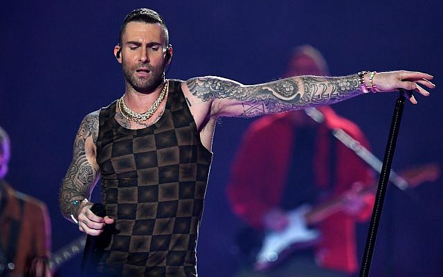 Adam Levine of Maroon 5 performs during the Super Bowl LIII halftime show at Mercedes-Benz Stadium in Atlanta, Feb. 3, 2019. (Kevin Winter/Getty Images)