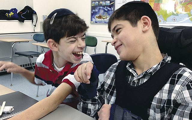 Two friends laughed together at Sinai at TABC last year. (Photos courtesy sinai schools)