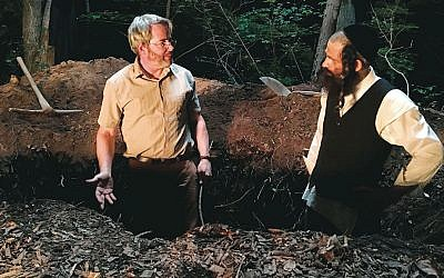 "Matthew Broderick, left, and Geza Rohrig  in ""To Dust."" (All About the 360, Inc.)"