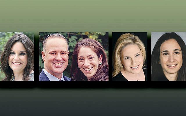 Jessica Kohn, left, Alan and Liz Mitrani, Cheryl Weiner Rosenberg, and Ilana Tachauer (Photos courtesy BPY)